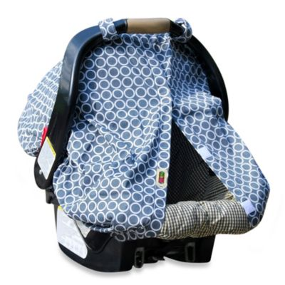 Padalily® Car Seat Canopy in Grey Ring Dot