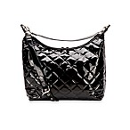 JP Lizzy Patent Hobo Diaper Bag in Black