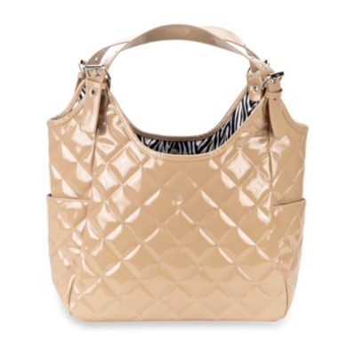 JP Lizzy Satchel Diaper Bag in Crema