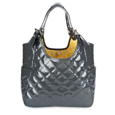 JP Lizzy Satchel Diaper Bag in Slate Saffron