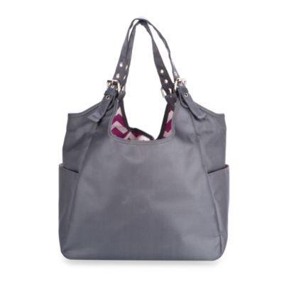 JP Lizzy Satchel Diaper Bag in Graphite Blush