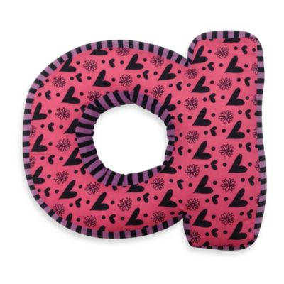 "One Grace Place Sassy Letter ""A"" Pillow"
