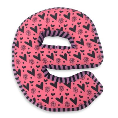 "One Grace Place Sassy Letter ""E"" Pillow"
