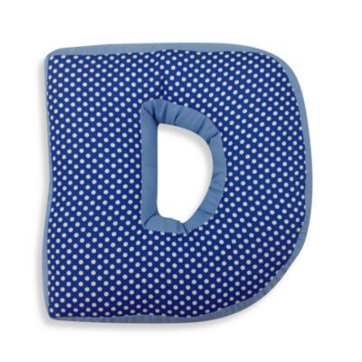 "One Grace Place Simplicity Letter ""D"" Pillow"