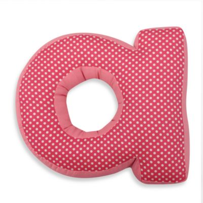 "One Grace Place Simplicity Letter ""A"" Pillow in Pink"