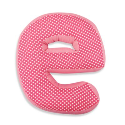 "One Grace Place Simplicity Letter ""E"" Pillow in Pink"