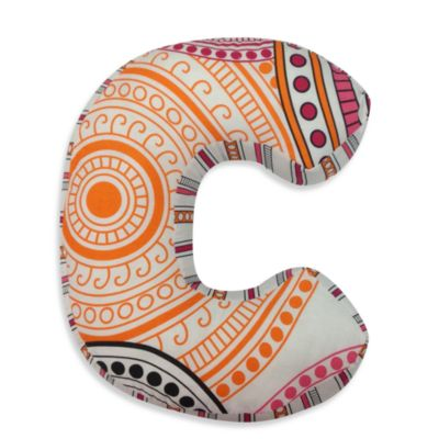 "One Grace Place Sophia Lolita Letter Letter ""C"" Pillow"