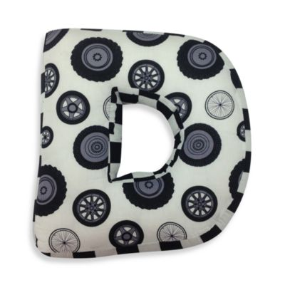 "One Grace Place Teyo's Tires Letter ""D"" Pillow"
