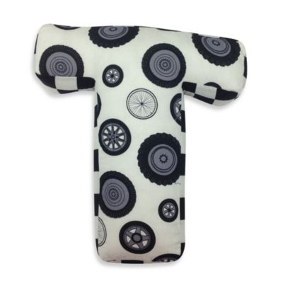"One Grace Place Teyo's Tires Letter ""T"" Pillow"