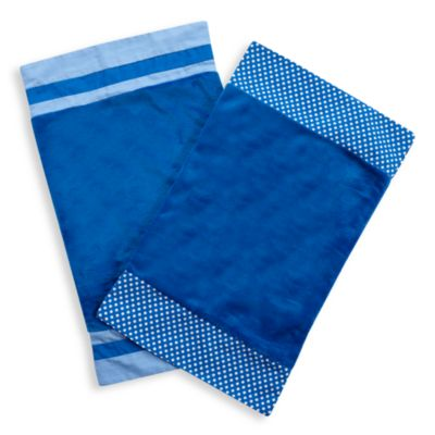One Grace Place Simplicity Burp Cloths in Blue (Set of 2)