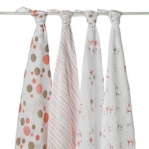 aden + anais® Classic 4-Pack Muslin Swaddles in Starlight