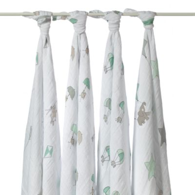 aden + anais® Classic 4-Pack Muslin Swaddles in UpUp & Away