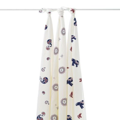 aden + anais® 3-Pack Muslin Swaddles in Diwali