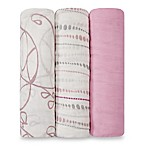 aden + anais® 3-Pack Muslin Swaddles in Tranquility