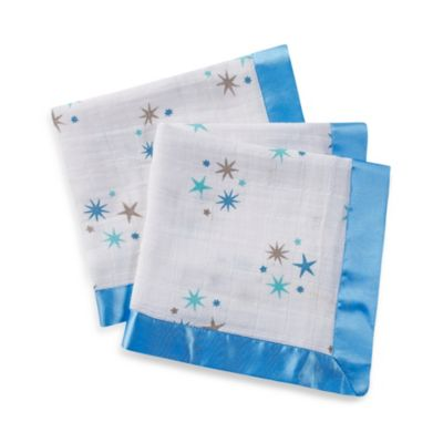 aden + anais® Classic Issie® Security Blankets in Aurelia Blue Stars