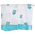 aden + anais® Classic Issie® Security Blankets in Declan Elephants