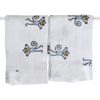 aden + anais® Classic Issie® Security Blankets in Amelia Monkey