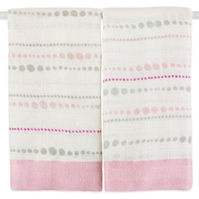 aden + anais® Bamboo Issie® 2-Pack Security Blanket in Tranquility Beads