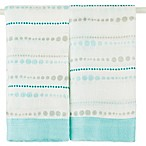 aden + anais® Bamboo Issie® 2-Pack Security Blankets in Azure Beads