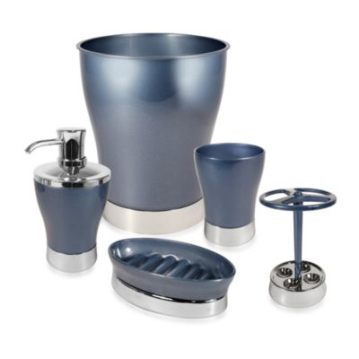 Interdesign® Tresca Indigo Bath Lotion Dispenser