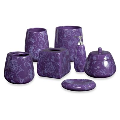Buy purple bathroom accessories decor from bed bath beyond for Bathroom decor purple