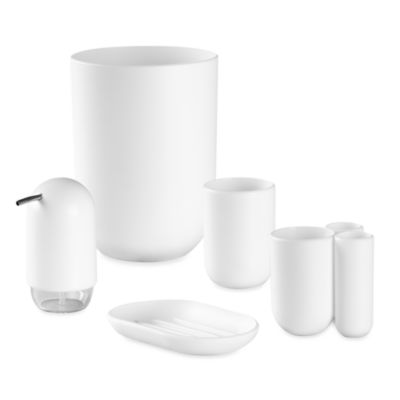 Umbra® Touch White Bath Waste Basket