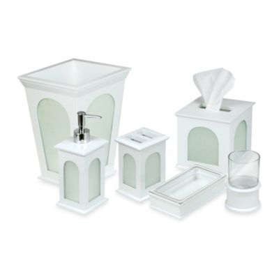Lantern White Bath Waste Basket