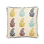 Jasmin Paisley Square Toss Pillow