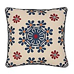 Jasmin Embroidered Square Toss Pillow