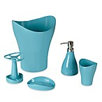 Umbra® Curvino Waste Basket in Aqua