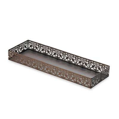 Steel Lace Toilet Tank Tray in Oil Rubbed Bronze