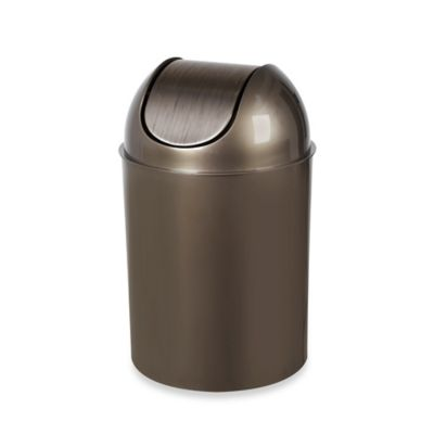 Umbra® Flip Champ 2.5-Gallon Wastebasket in Champagne