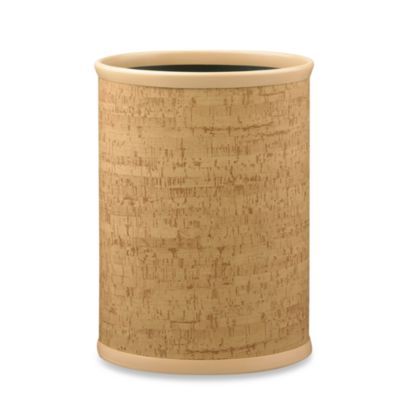 Kraftware™ Natural Cork 14-Inch Oval Wastebasket