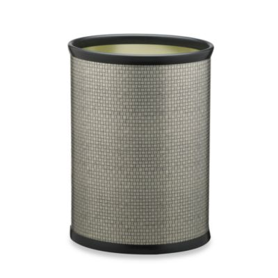 Kraftware™ Cobblestone Wastebasket in Metal Slate