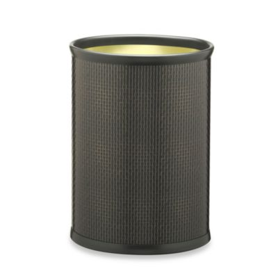 Kraftware™ Cobblestone Metal Brown Waste Basket