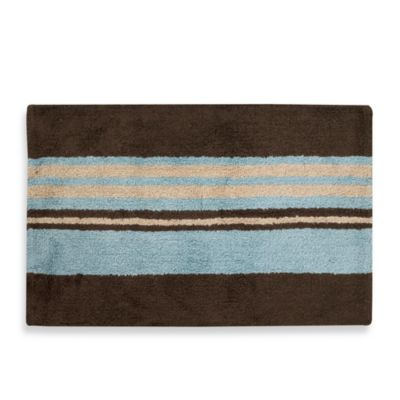buy blue brown bathroom rugs from bed bath beyond