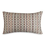 Hipster Oblong Toss Pillow in Rust/Multi