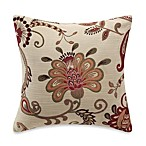 Jacobean Floral Square Toss Pillow