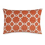 Linked Tile Rust Oblong Toss Pillow