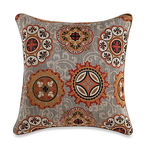 Philips Terracotta Square Toss Pillow