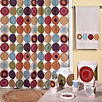 Dot Swirl 72-Inch x 72-Inch Shower Curtain