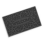 Clean Scrape Welcome Iron Design Doormat in Graphite