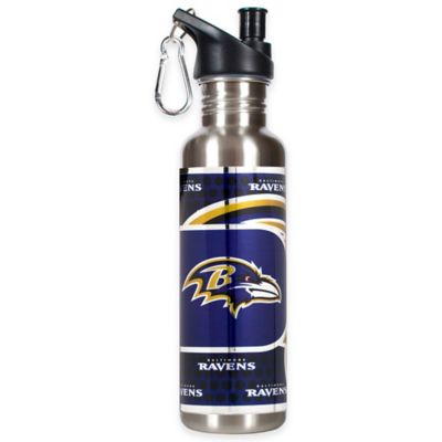 Baltimore Ravens 26-Ounce Stainless Steel Water Bottle