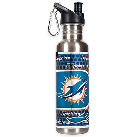 Miami Dolphins 26-Ounce Stainless Steel Water Bottle