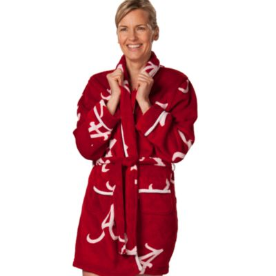 University of Alabama Small Ladies Fleece Bathrobe in Crimson