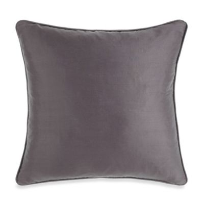 Silk Charcoal Toss Pillow