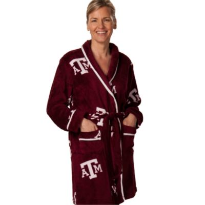 Texas A&M Extra Large Ladies Fleece Bathrobe in Maroon