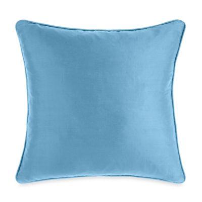 Silk Teal Toss Pillow