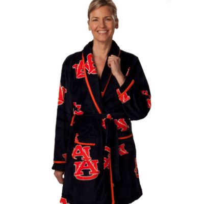 Auburn University Small Ladies Fleece Bathrobe in Navy
