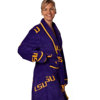 Louisiana State University Small Ladies Fleece Bathrobe in Purple
